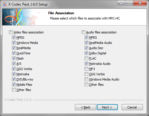 Media Player Codec Pack for Microsoft Windows